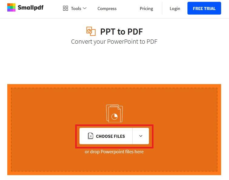 تبدیل پاورپوینت به pdf آنلاین