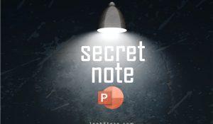 نوشتن یادداشت مخفی در اسلایدهای پاورپوینت